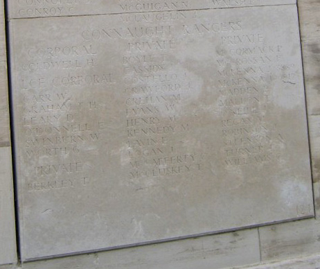 Panel 124 of the Loos Memorial (lower)